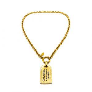 Vintage Chanel Dog Tag Necklace
