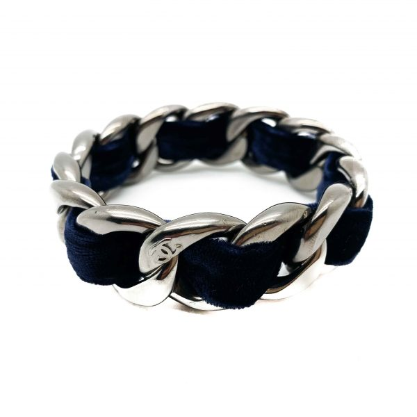 Retro Chanel Velvet Bangle