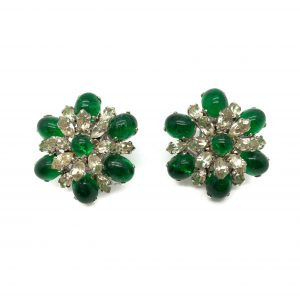 Vintage Dior Emerald Earrings