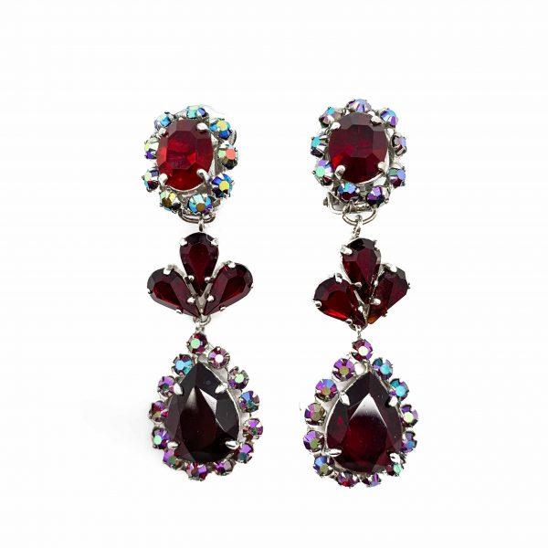 Vintage Dior Ruby Earrings