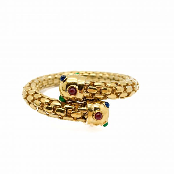 Vintage Gold Jewelled Cuff