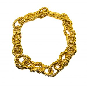 Vintage Chanel Gold Rope Necklace