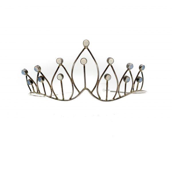 Vintage Moonstone Silver Tiara