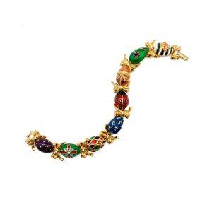 Vintage Joan Rivers Egg Bracelet