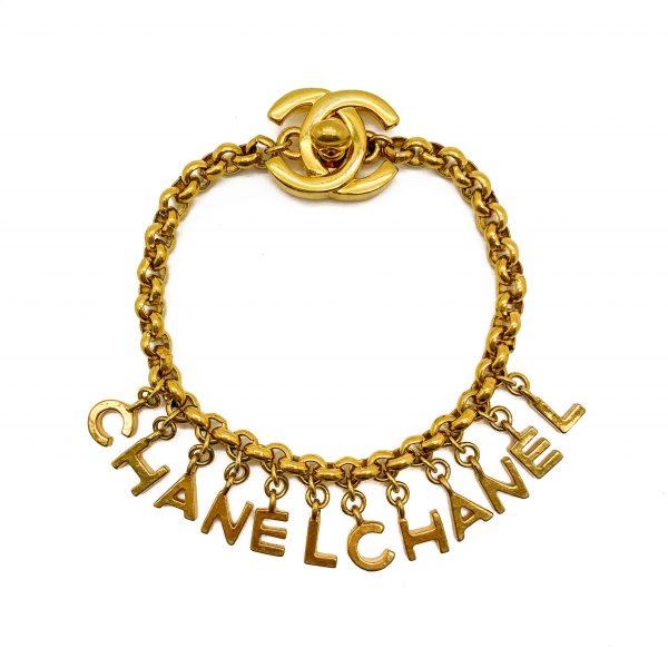 Vintage Chanel Turnlock Letter Bracelet