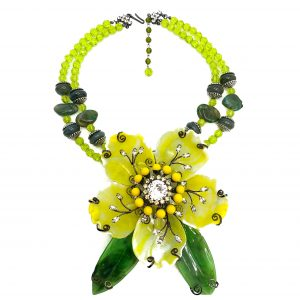 Vintage Lawrence Vrba Floral Necklace