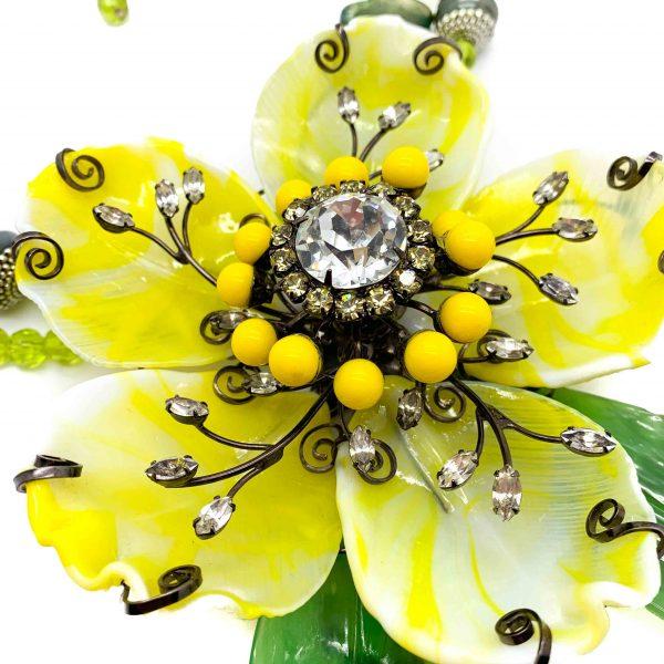 Vintage Lawrence Vrba Floral Necklace