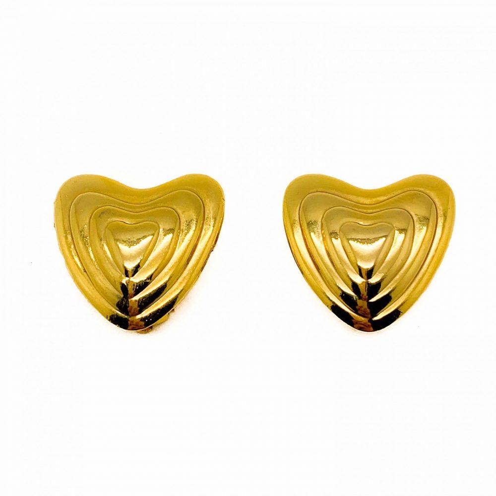 Vintage Escada Heart Earrings