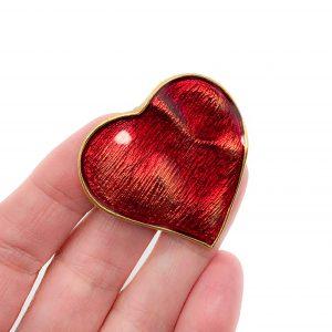 Vintage YSL Heart Brooch