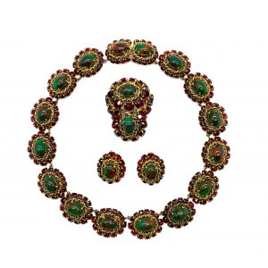 Vintage Dior Parure Necklace Earrings Brooch Suite 1964