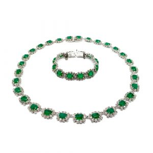 Vintage Dior Emerald Necklace Bracelet