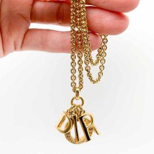 Jennifer Gibson Vintage Jewellery Vintage Christian Dior Logo Necklace