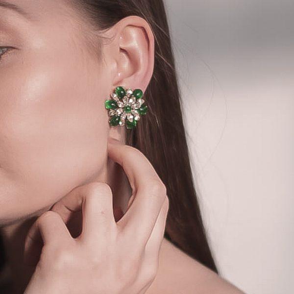 Vintage Dior Emerald Earrings