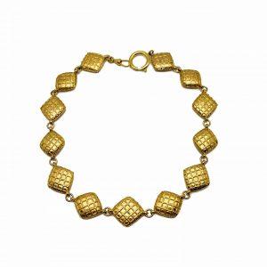 Vintage Chanel Crystal Gold Necklace