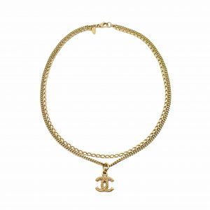 Chanel CC Logo Chain Necklace
