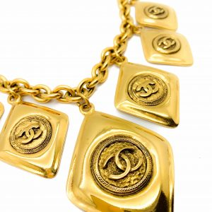 Vintage Chanel Rhombus Necklace