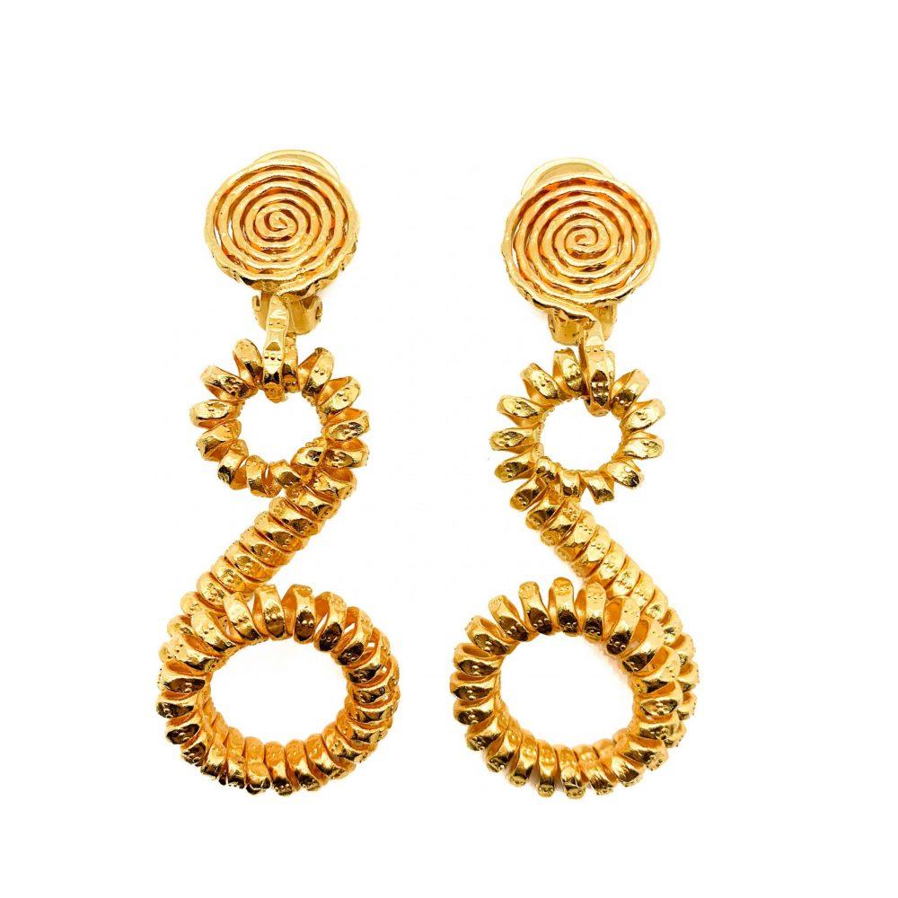 Vintage Coiled Earrings