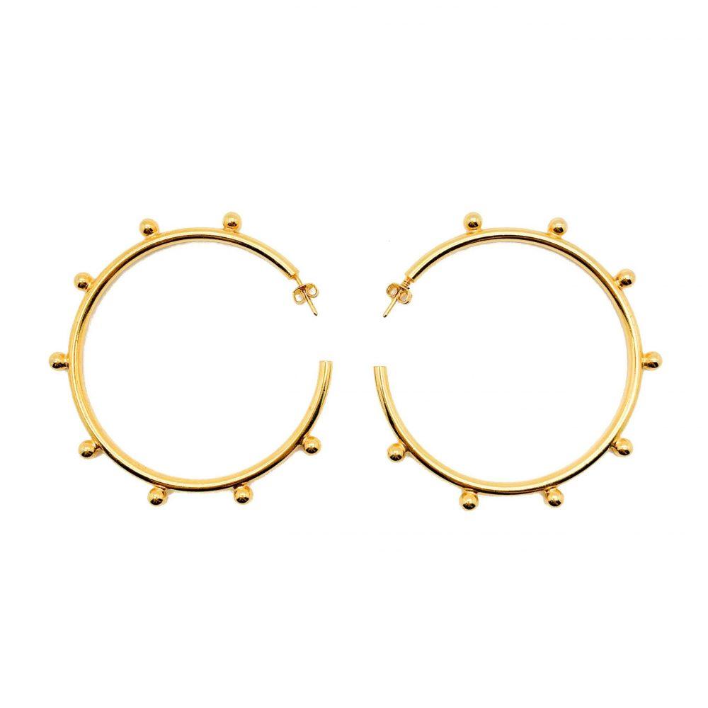 Vintage Gold Stud Hoops