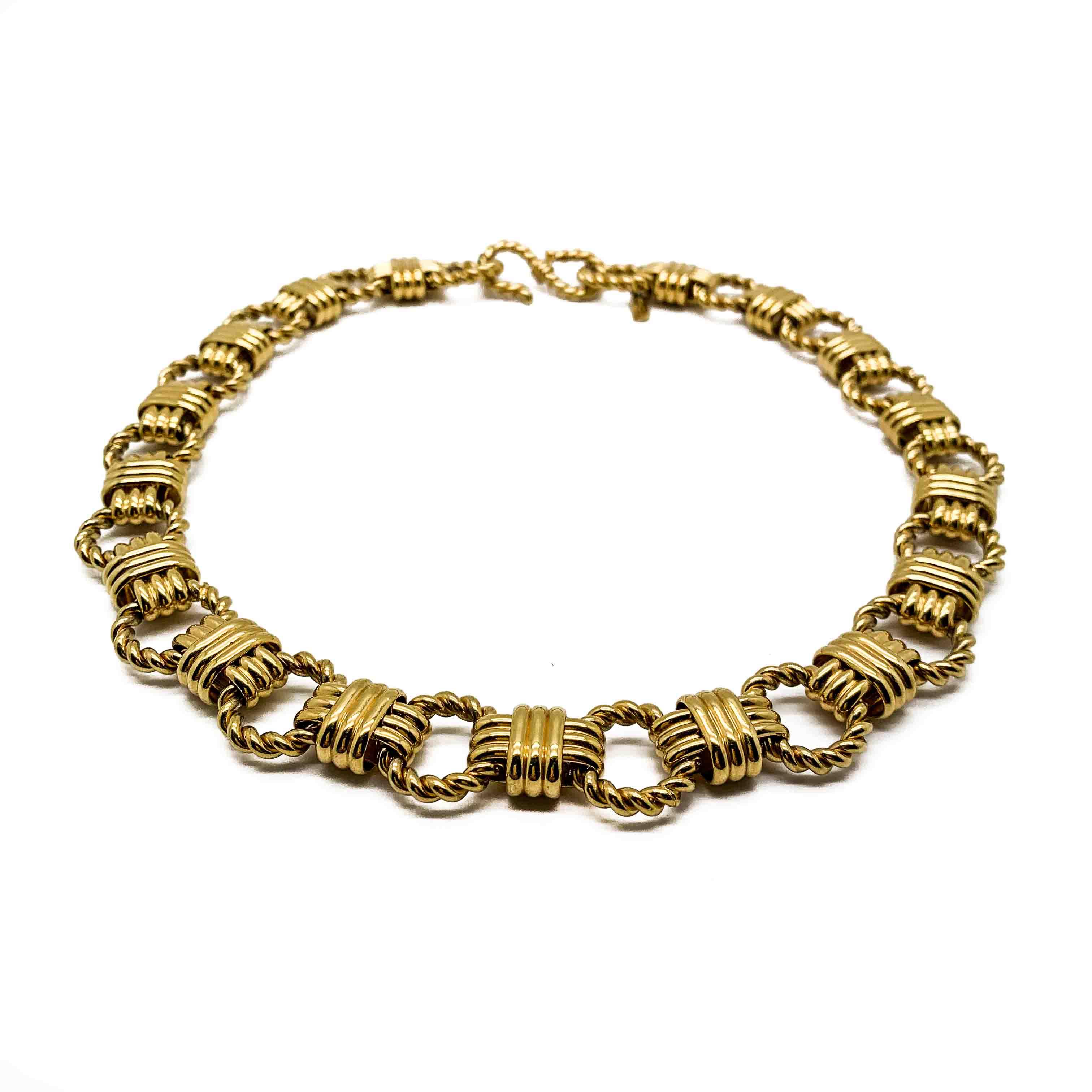 Vintage Monet Rope Necklace Vintage Jennifer Gibson Jewellery