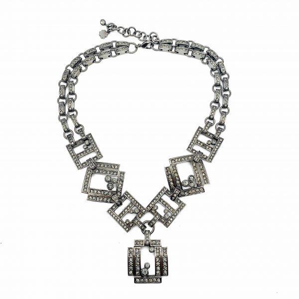 Vintage Dior Statement Geo Necklace