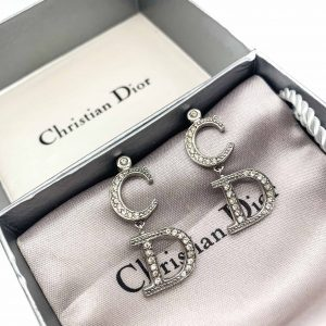 Vintage Dior CD Logo Earrings