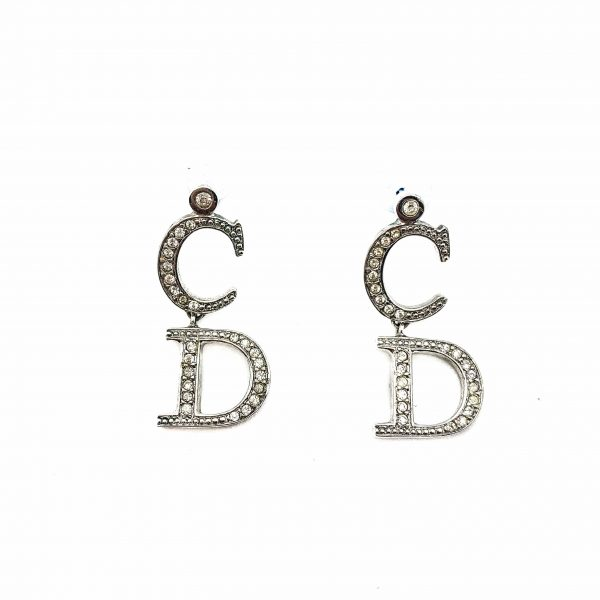 Vintage Dior CD Logo Earrings