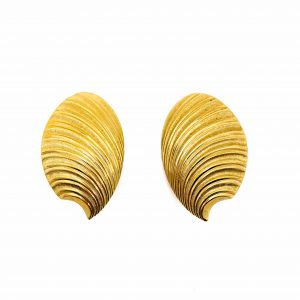 Vintage Dior Shell Earrings