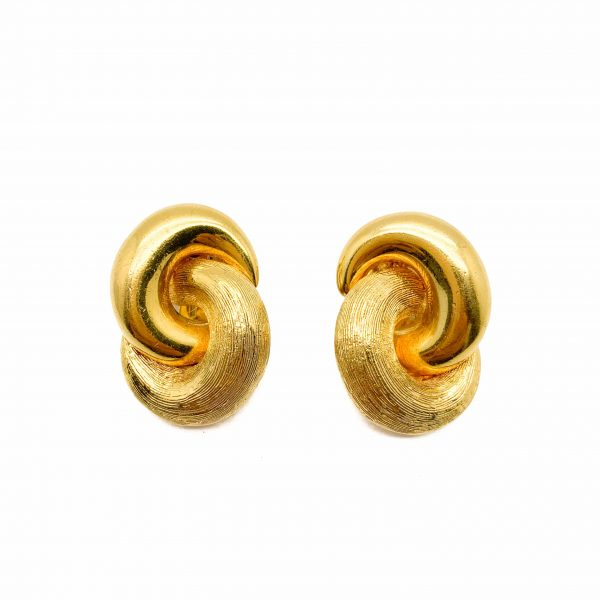 Vintage Dior Love Knot Earrings