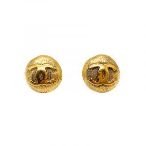 Vintage Chanel Logo Earrings