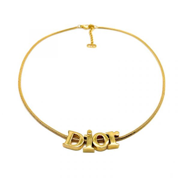 Vintage Dior Letter Logo Necklace