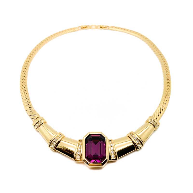 Vintage Dior Amethyst Collar