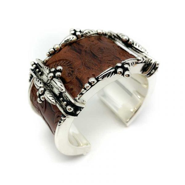 Vintage Dior Tooled Leather Cuff