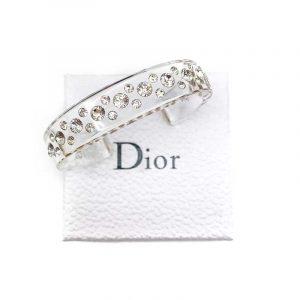 Vintage Dior Resin Crystal Cuff