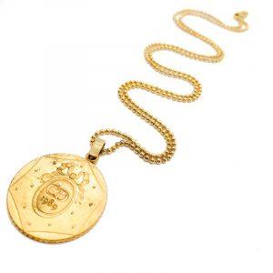 Vintage Dior Bicentennial Medal Necklace