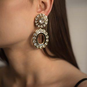 Vintage Dior Double Hoop Earrings