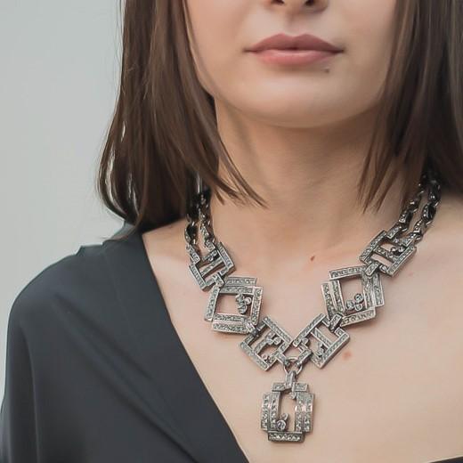 Vintage Dior Statement Art Deco Style Necklace