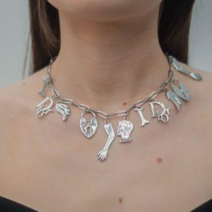 Vintage Dior Charm Necklace Jennifer Gibson Jewellery