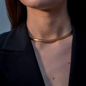 Vintage Dior Herringbone Collar