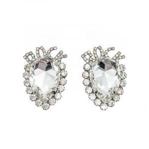 Vintage Crystal ROCK Earrings