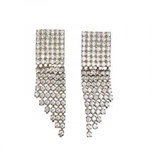 Vintage Rhinestone Chandelier Earrings