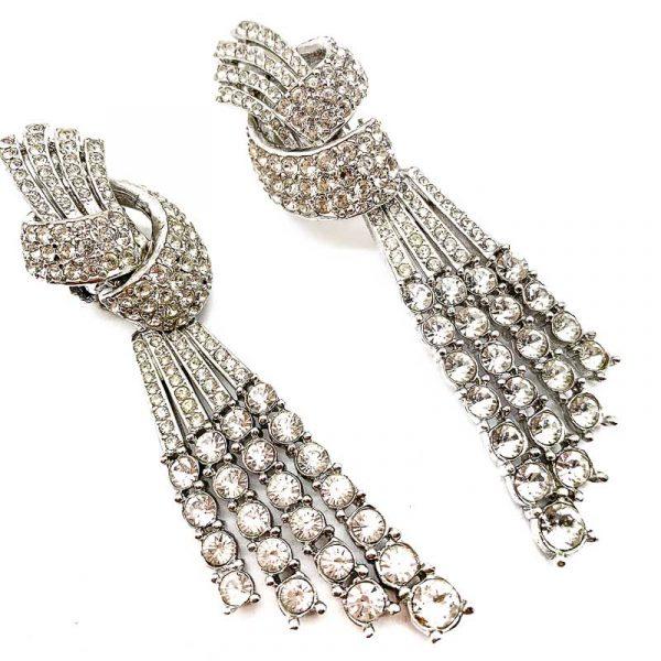 Vintage Ciner Art Deco Cocktail Earrings