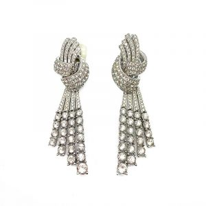 Vintage Ciner Art Deco Cocktail Earrings