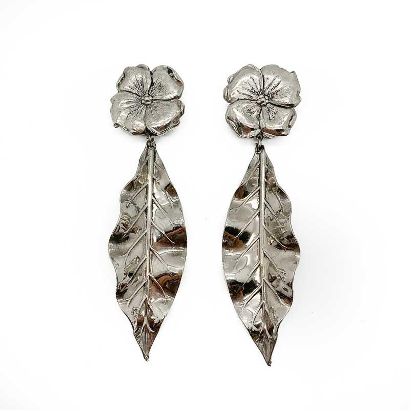 Vintage Floral Leaf Earrings