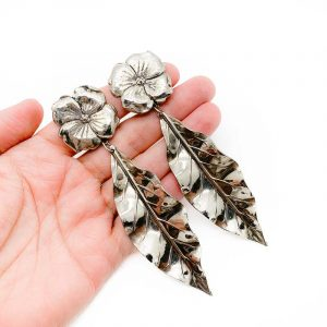 Vintage Floral Leaf Earrings