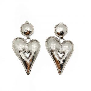 Vintage Edouard Rambaud Heart Earrings