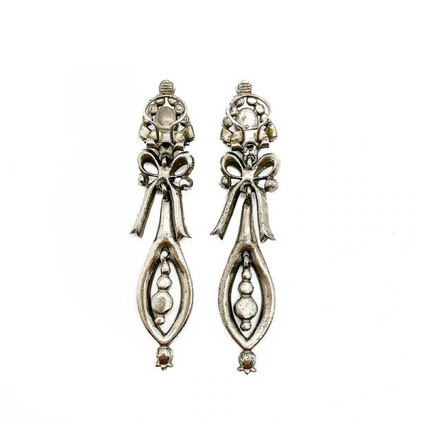 Antique French Pendeloque Paste Earrings