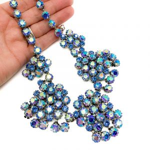 Vintage Blue Crystal Necklace