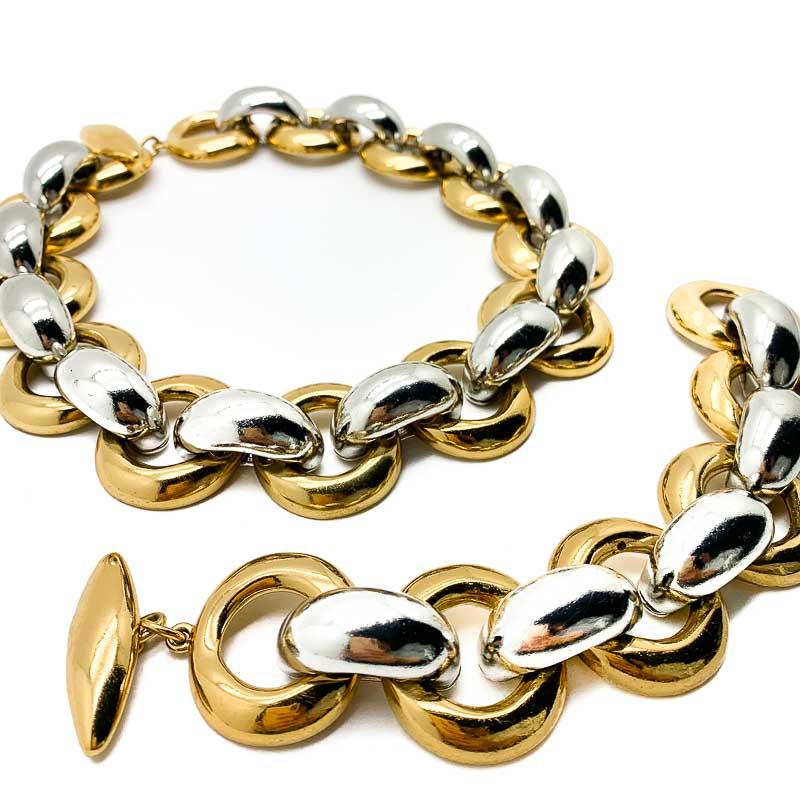 Vintage YSL Necklace and Bracelet