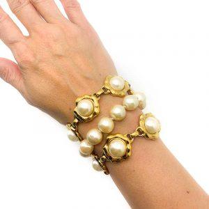 Vintage Karl Lagerfeld Pearl Bracelet