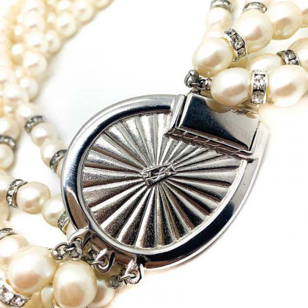 Vintage YSL Pearl Torsade Necklace